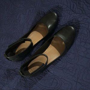 Clarks Comfort Ankle Strap Wedges